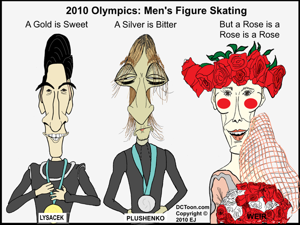 2010 Olympics Men Figure Skating (Cartoon by EJ)