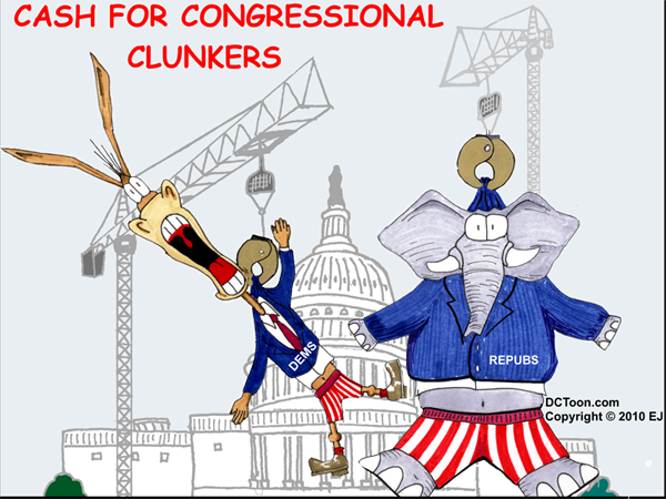 Cash for Congressional Clunker (Cartoon by EJ)