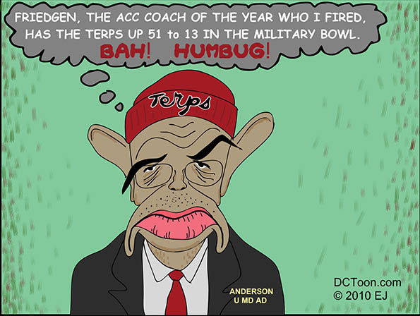 New MD AD Savors Lead in Military Bowl (DCToon Cartoon by EJ)