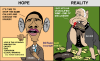 Obama versus McCain Political Cartoon by EJ