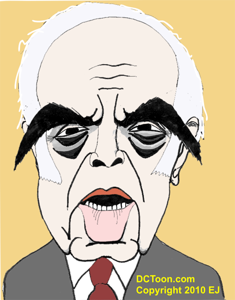 Robert Novak Caricature (Cartoon by EJ)