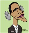 Obama (Caricature-Cartoon by EJ)