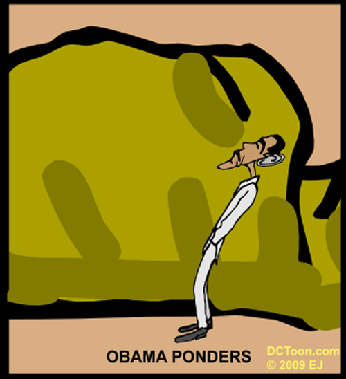 Obama Ponder Transition to White House (Political Cartoon by EJ)