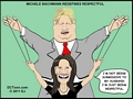 Rep. Michele Bachmann redefines respectful (cartoon by EJ)