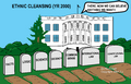 White House - Ethnic Cleansing (Cartoon)