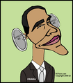 Obama Caricature by EJ
