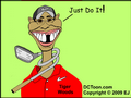 Tiger Woods in the Woods? (Cartoon by EJ)