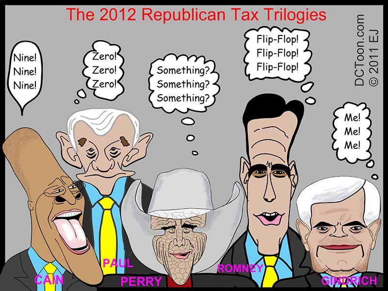 The Republican Tax Trilogies a Cartoon by EJ