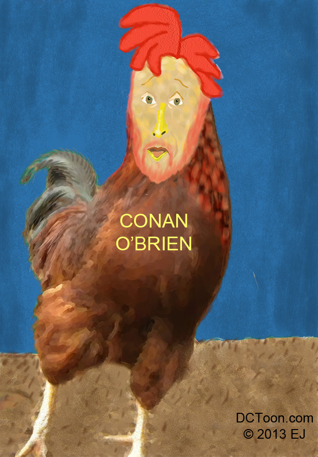 Caricature of Conan O'Brien by EJ