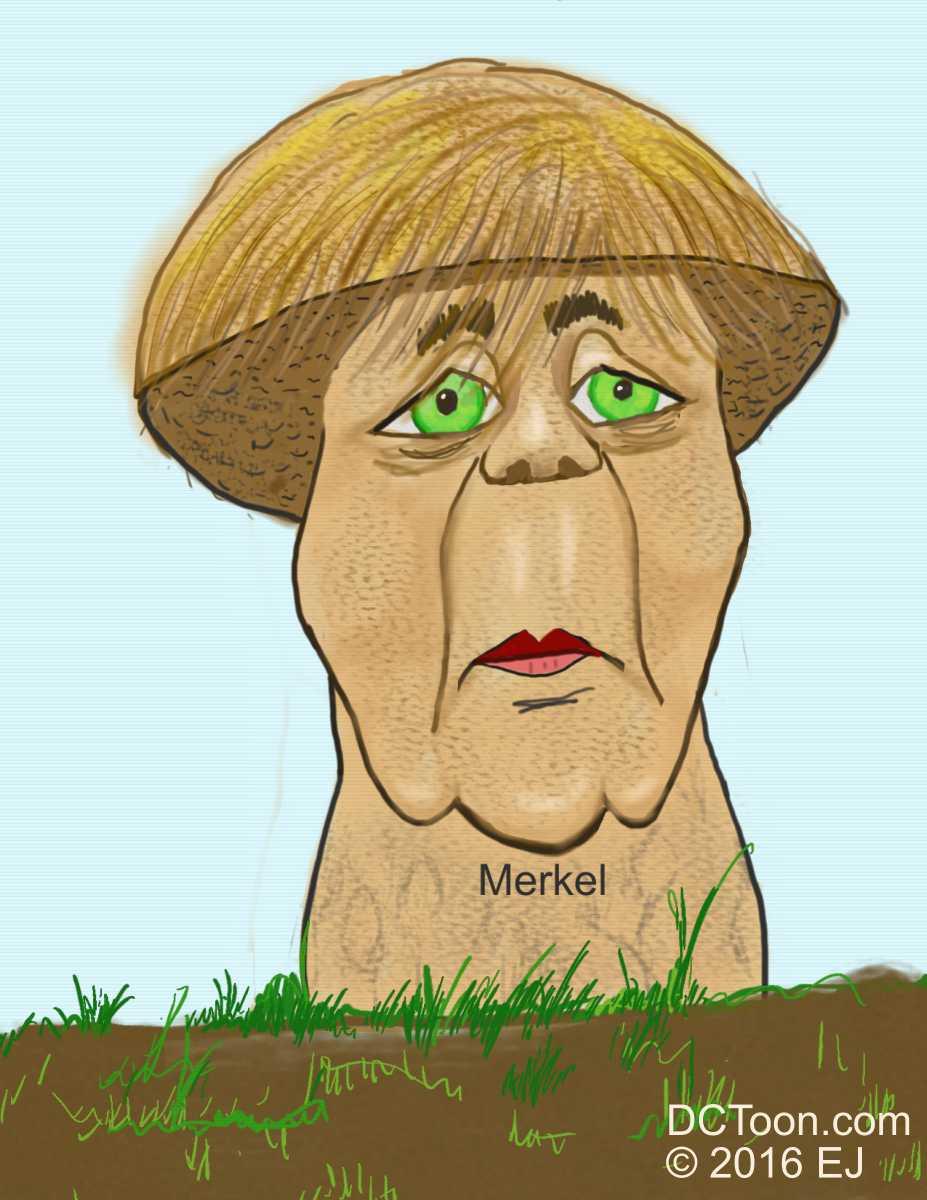 Merkel as Mushroom